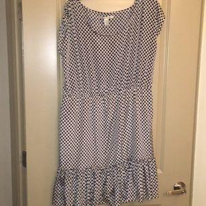 Dresses & Skirts - Navy blue and cream dress